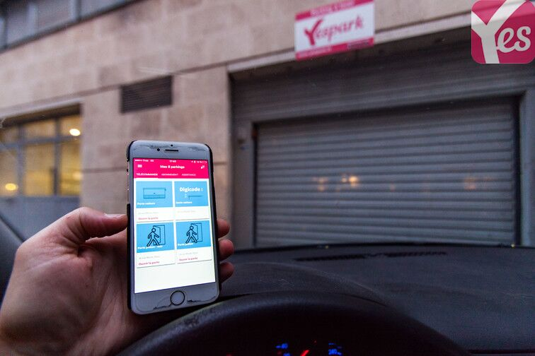 Accédez au parking à l'aide de l'application mobile Yespark ;)