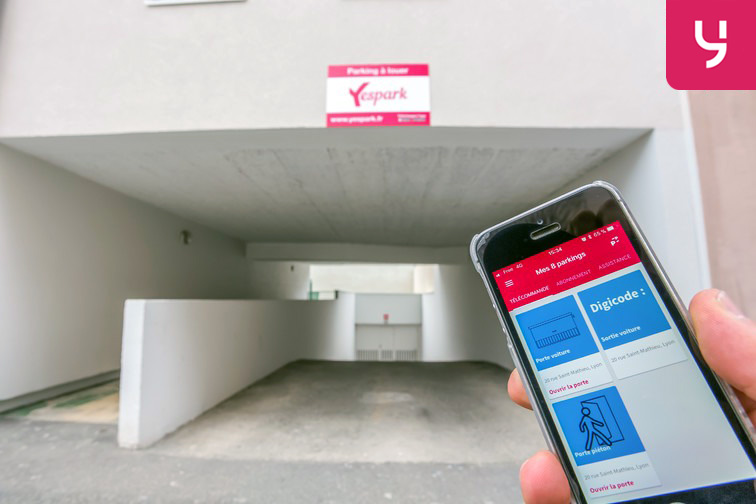 Accédez au parking à l'aide de l'application mobile Yespark ;)