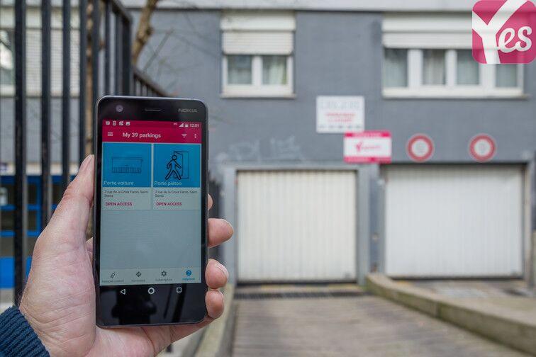 Utilisez l'application Yespark pour entrer dans le parking
