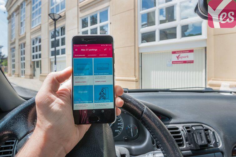 L'application toujours au service pour ouvrir l'accès au parking
