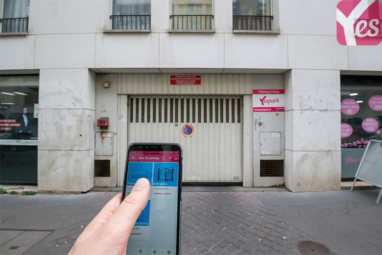 Le parking s'ouvre via l'application Yespark