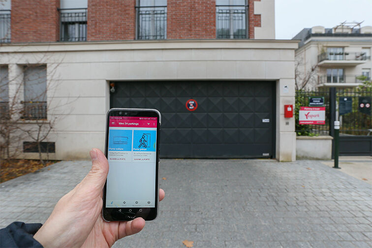 Entrez dans le parking grâce à votre smartphone
