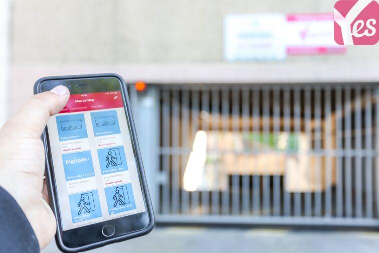 L'application Yespark permet d'ouvrir le parking avec votre smartphone !